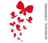 beautiful red butterflies ... | Shutterstock . vector #1154505061