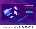 cloud storage vector... | Shutterstock .eps vector #1154506591