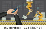 move to factory and industry in ... | Shutterstock .eps vector #1154507494