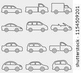 cars  vans and trucks... | Shutterstock .eps vector #1154509201