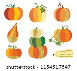 fall or autumn pumpkin with... | Shutterstock .eps vector #1154517547