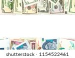 iranian rial and american... | Shutterstock . vector #1154522461