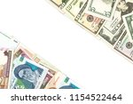 iranian rial and american... | Shutterstock . vector #1154522464