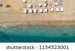 aerial view at beach at pyrgos... | Shutterstock . vector #1154523001