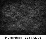 Black background or texture - rough wall - stock photo
