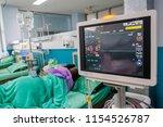modern vital sign monitor on... | Shutterstock . vector #1154526787