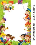 young happy kids   kindergarten ... | Shutterstock . vector #115452841