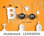 paper art style of halloween...   Shutterstock .eps vector #1154530531