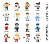 kid set of different... | Shutterstock .eps vector #1154537071