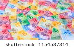 collection of the new swiss... | Shutterstock . vector #1154537314