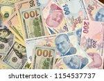 turkish lira and american...   Shutterstock . vector #1154537737