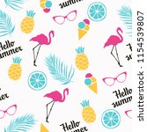 seamless summer pattern with... | Shutterstock .eps vector #1154539807