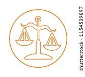 justice scale outline icon | Shutterstock .eps vector #1154539897