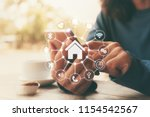 smart home control with... | Shutterstock . vector #1154542567