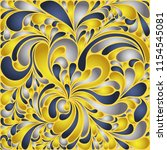 silk texture fluid shapes ... | Shutterstock .eps vector #1154545081