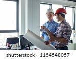 positive leader in casual... | Shutterstock . vector #1154548057