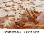 Christmas baking background - stock photo