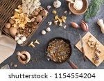 top view of preparation and... | Shutterstock . vector #1154554204