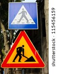 construction zone and... | Shutterstock . vector #115456159