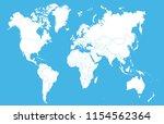 color world map vector | Shutterstock .eps vector #1154562364