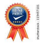 best price  product on white. | Shutterstock . vector #115457101