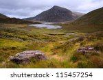 view over llyn idwal in...