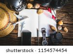 top view of traveler...   Shutterstock . vector #1154574454