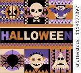halloween vector ornaments ...   Shutterstock .eps vector #1154577397