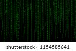 digital background green matrix.... | Shutterstock .eps vector #1154585641