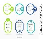 modern color  design label   ... | Shutterstock .eps vector #115458655
