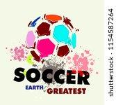 vector grunge soccer ball   t... | Shutterstock .eps vector #1154587264