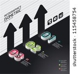 isometric modern infographic... | Shutterstock .eps vector #115458754