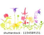 watercolor silhouettes of wild...   Shutterstock . vector #1154589151