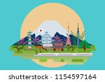 info graphics travel and... | Shutterstock .eps vector #1154597164