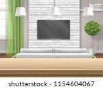 view on living room with sofa... | Shutterstock .eps vector #1154604067