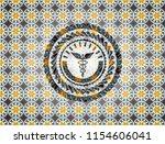 caduceus medical icon inside...   Shutterstock .eps vector #1154606041
