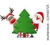 Reindeer Santa Claus Christmas...
