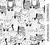 seamless pattern with funny... | Shutterstock .eps vector #1154608411