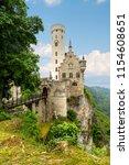 lichtenstein castle  a... | Shutterstock . vector #1154608651