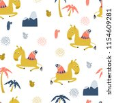 seamless pattern with cute... | Shutterstock .eps vector #1154609281