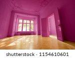 pink painted  room in beautiful ... | Shutterstock . vector #1154610601