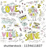 pattern with slogans for tee... | Shutterstock .eps vector #1154611837