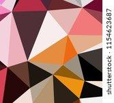 abstract background poligonal... | Shutterstock . vector #1154623687