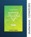 modern vector abstract brochure ... | Shutterstock .eps vector #1154631301