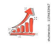 vector cartoon growth chart... | Shutterstock .eps vector #1154633467