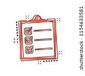 vector cartoon to do list icon... | Shutterstock .eps vector #1154633581
