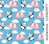 seamless panda pattern... | Shutterstock .eps vector #1154633977