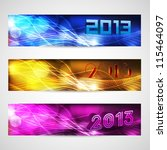 new year website header and... | Shutterstock .eps vector #115464097