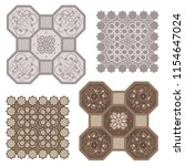 eastern arabic ornament vector... | Shutterstock .eps vector #1154647024