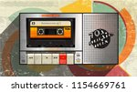 70's music cover. awesome mix... | Shutterstock .eps vector #1154669761